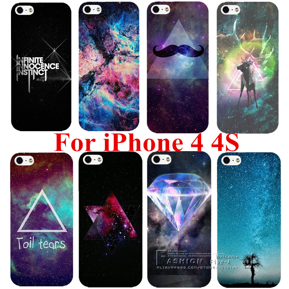 New Arrival Space Universe Snap On Hard Case Cover Protector For Apple iPhone 4 4S 4G Free