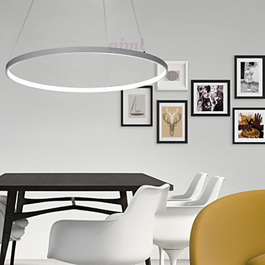 LED 50W 40+20CM Pendant Light Modern Design/ LED Ring Special for office,Showroom,LivingRoom 110-240V Free shipping