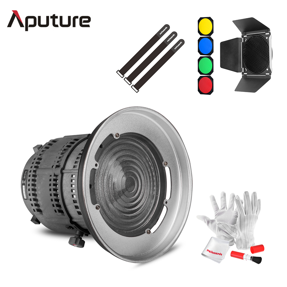 Aputure Fresnel Mount Bowen-S Mount Light A Multi-Functional Light Shaping + Godox Barn Door Honeycomb Grid for LS C120 Series