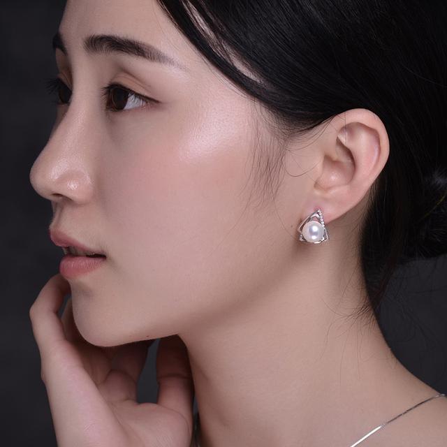 Silver Pearl Fine Jewelry Set
