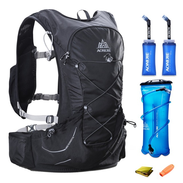 15L AONIJIE Men Women Hydration Backpack Outdoor Running Trail Racing Hiking Marathon Rucksack 3L Water Bag 2 350ML Soft Flask