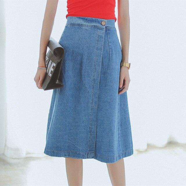 Hot Sale Knee Length Design Autumn Women A line Skirt Casual ...
