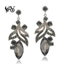 hot deal buy veyo plant shape crystal drop earrings trendy earrings for women fashion jewelry 3 colour new arrival