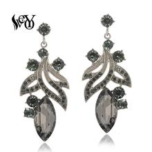 VEYO Plant shape Crystal Drop Earrings Trendy Earri