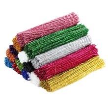 100PCS Multicolor Handcraft Plush Stick Childrens Educational Toys Handmade Art DIY Materials Christmas Intelligence