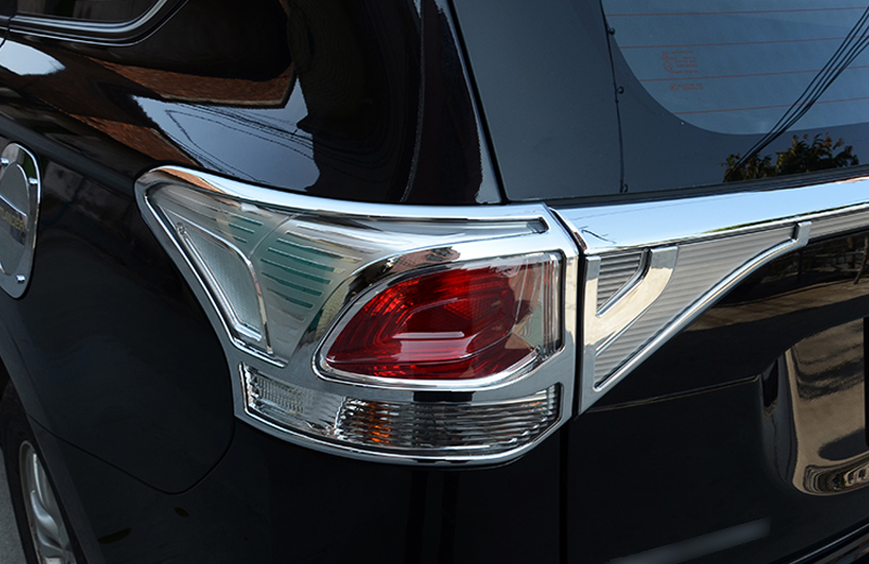ABS  Rear Tail Light Lamp Cover Trim For Mitsubishi Outlander 2013 2014