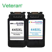Ветеран PG445 CL446 Замена для canon pg 445 cl 446 чернильный картридж для Pixma MX494 MG 2440 2540 2940 2942 IP2840 принтер