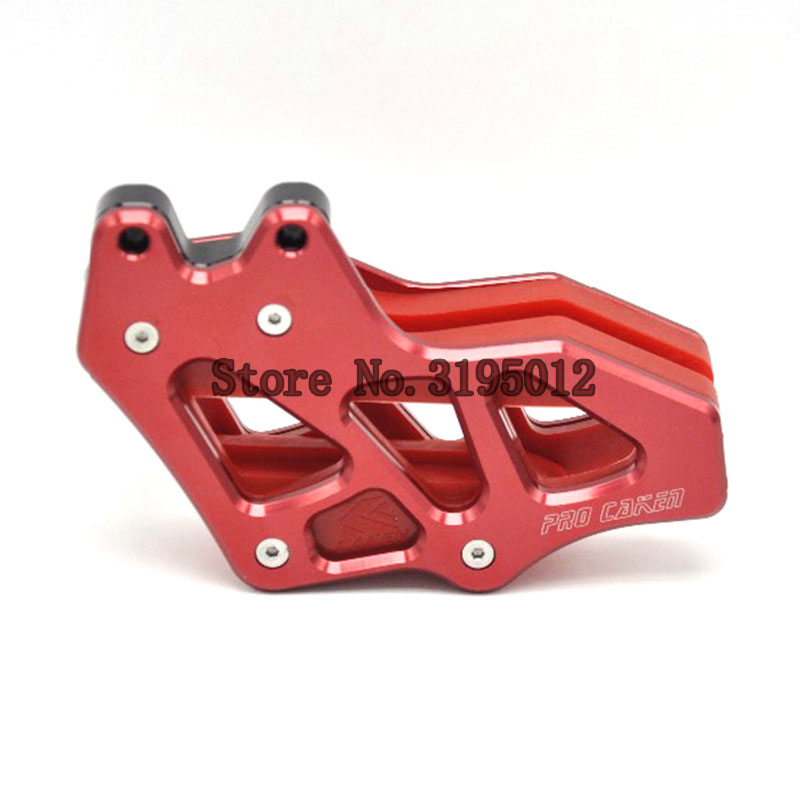 chain guide protector for honda crf 230 crf230F dirt offroad bike motorcycle motocross parts accessories for honda crf 250r 450r 2004 2006 crf 250x 450x 2004 2015 red motorcycle dirt bike off road cnc pivot brake clutch lever