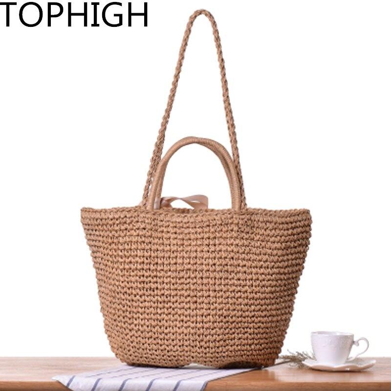 Luggage & Travel Bags Ladies Women Fashion Rattan Straw Bag Woven Tassel Bucket Bag Shoulder Tote Holiday Beach Handbag Travel Bags Always Buy Good Luggage & Bags