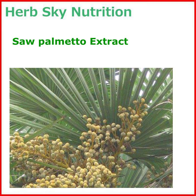 100% Natural& High quality Saw palmetto/ Serenoa repens Extract with free shipping, Men's health care high quality horny goat weed extract icariin10% 50% 60% 80% 98% epimedium extract pure natural epimedium extract 400g bag