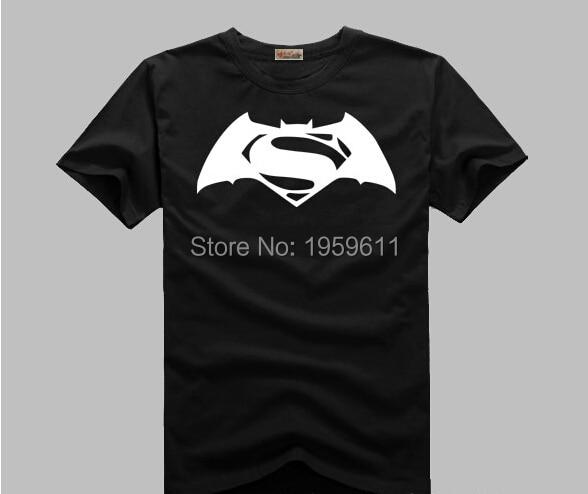 Superman VS batman Logo Comic Super Hero T-Shirt t shirt  Movie Men Cosplay T Shirts