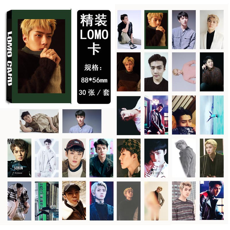 [MYKPOP] EXO SEHUN FOR LIFE LOMO Cards 04 Paper Photo Card HD Photocard SA18030219 ...