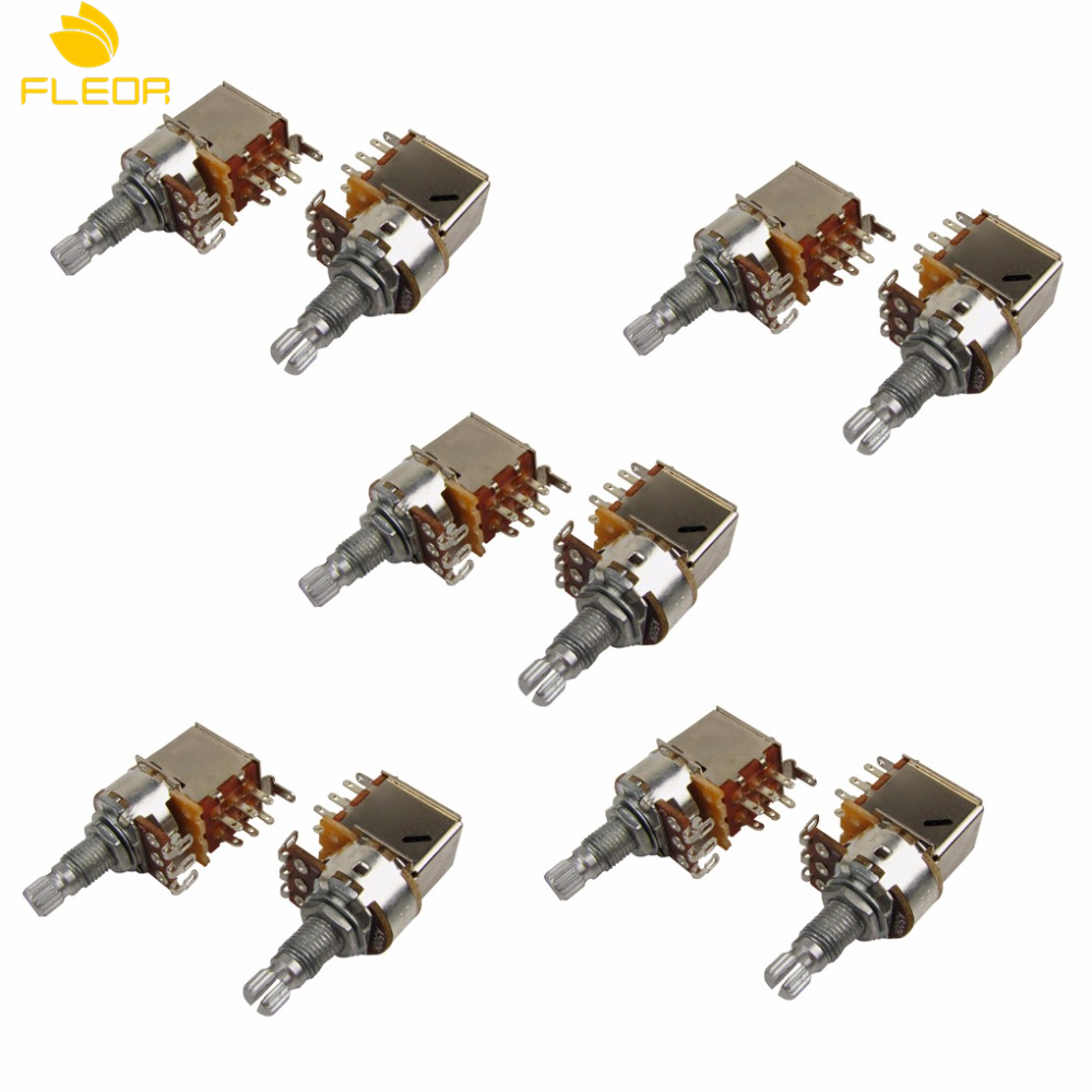 FLEOR 10pcs A500K/B500K/A250K/B250K Push Pull Pots ELectric Bass Guitar  Volume Pots Audio Volume Switch Potentiometers-in Guitar Parts &  Accessories from ...