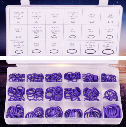 Image 3 - 270pcs/lot Rubber Insulation Gasket Washer Seals Automobile Air Conditioner Compressor Seal Ring O Ring Repair Box-in A/C Hoses & Fittings from Automobiles & Motorcycles