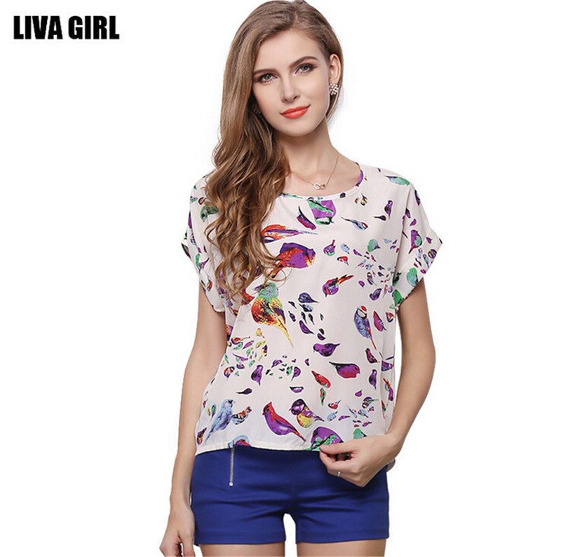 2015 O neck Woman s Breathable Tops Loose Women T shirt Pullover Plus Size XXL Casual