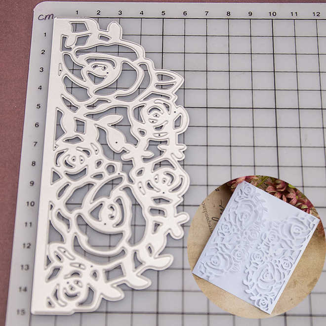 Card Rose Lace Metal Cutting Dies Stencils for DIY Scrapbooking Photo Album Decorative Embossing DIY Paper Cards
