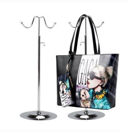 Whole Metal Handbag Display Stand Bag Showing Rack Support Holder Hook Stainless Steel Organizer Adjule Mannequins