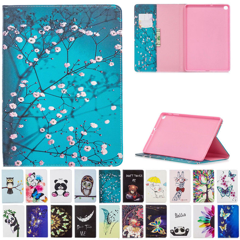 For <font><b>Samsung</b></font> Galaxy Tab A 10.1 2019 T515 <font><b>T510</b></font> wallet Flip Stand <font><b>case</b></font> coque SM-T510n 10.1