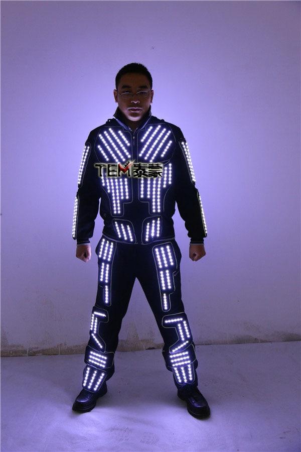 Tron Led Suit Traje Led Robot Suit Led Clothing Luminous Dance