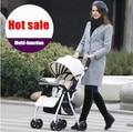 Caliente venta! de múltiples funciones Ultra ligero cochecito de bebé para niños de cuatro ruedas plegables Poussette cochecito para niño recién nacido carro