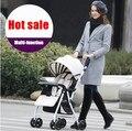 Venda quente! Multi - função Ultra luz carrinho de bebê para crianças de quatro rodas dobráveis Poussette Pram para recém-nascido infantil transporte