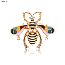 Javrick Bee Butterfly Dragonfly Bros Mewah Fashion Perhiasan Wanita Berlian Imitasi Warna-warni Hadiah Antik Korsase Natal(China)
