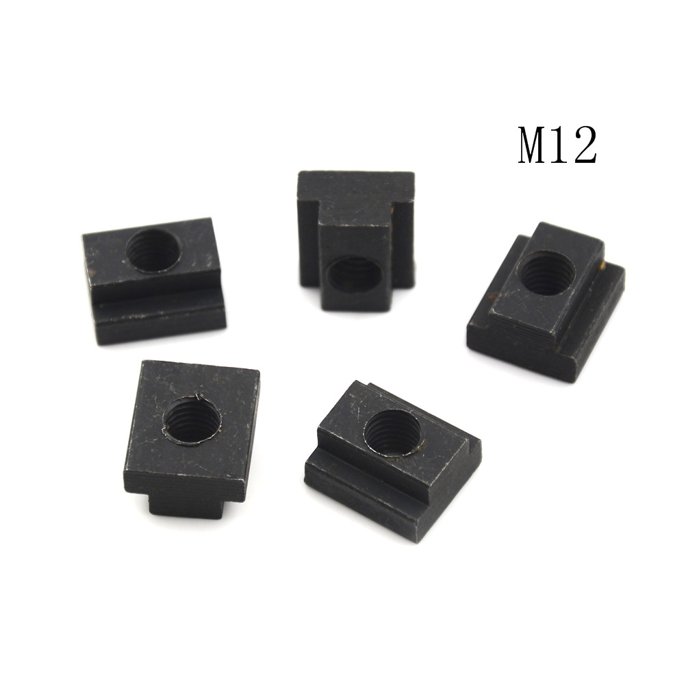 Clamping Table Slot Nut 5 pcs Practical T Slot Nuts M 16 Threads Fit Into T-Slots in Machine Tool Tables Black for Industrial Home Decoration