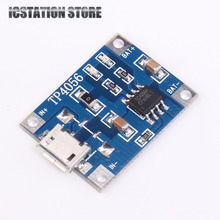 10pcs 5V 1A Micro USB 18650 Li-ion Lithium Battery Charging Protection Board Charger Module TP4056 For Arduino