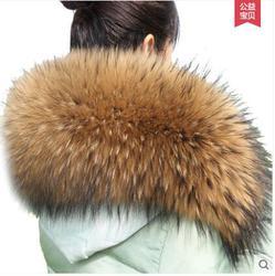 Faux Fur Afneembare kragen bontkragen 80 cm * 20 cm Winter Jas kraag