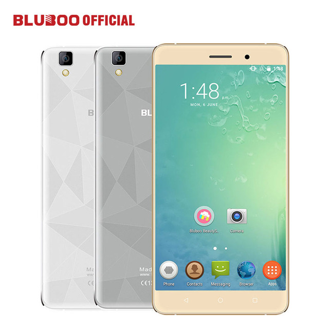 "Original BLUBOO Maya 5.5"" HD 3000mAh WCDMA Smartphone Android 6.0 MTK6580 Quad Core 2GB RAM 16GB ROM 8.0MP+13.0MP Mobile Phone"