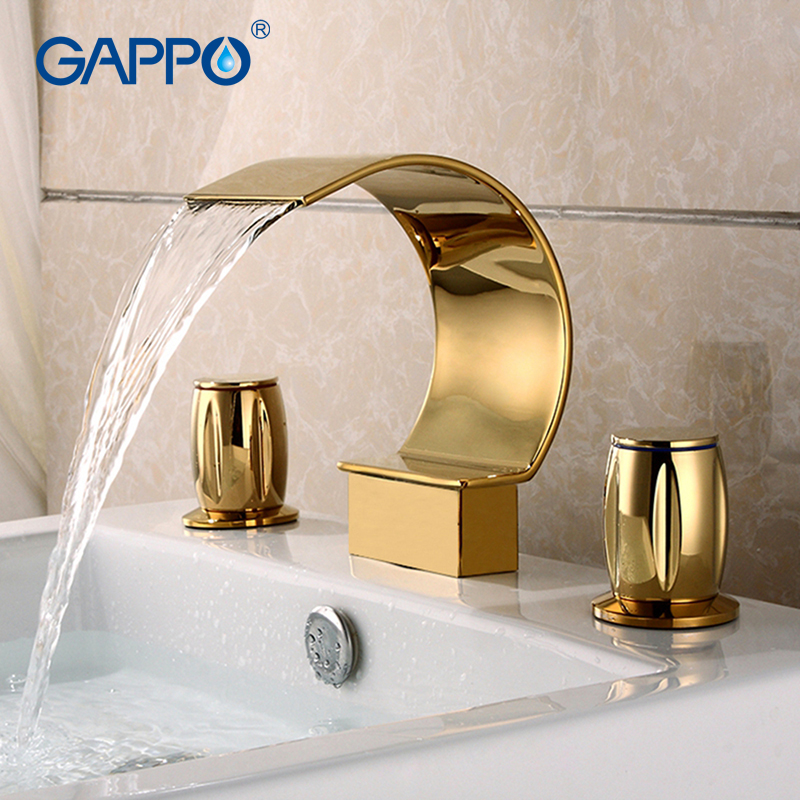 GAPPO Basin Faucet bathroom mixer tap waterfall bathroom shower faucets bath water mixer Wall Mounted Faucets xueqin bathroom bath shower faucets water control valve wall mounted ceramic thermostatic valve mixer faucet tap