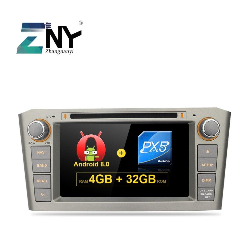 7 IPS Affichage Android 8.0 DVD De Voiture Pour Toyota Avensis T25 2003 2004 2005 2006 2007 2008 Auto Radio stéréo GPS Système de Navigation