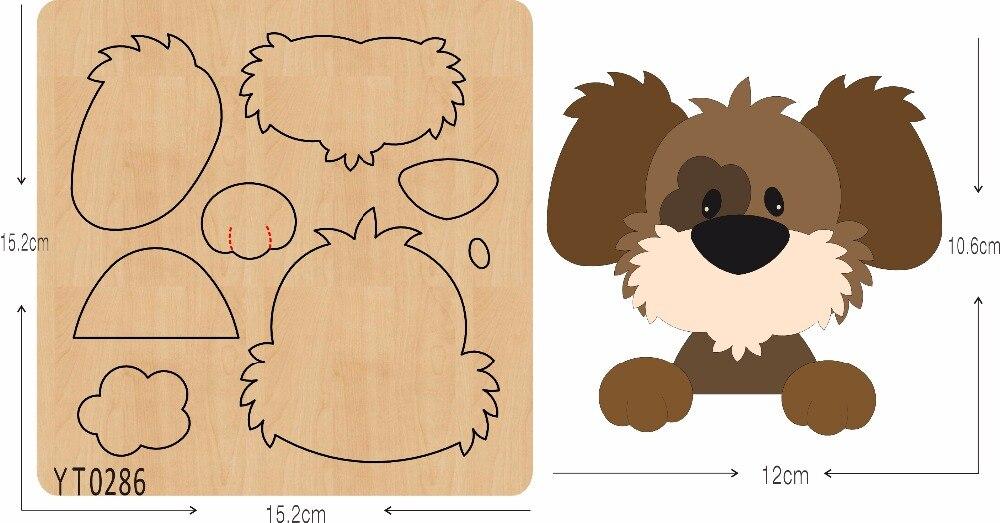 Lovely dog 7 DIY wooden die cutting tool die Scrapbook mold YT0286
