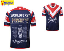 7715a2c9f3f Yigege GRAND FINAL SYDNEY 2018 2019 SYDNEY ROOSTERS MENS PREMIERS JERSEY  Home rugby Jersey Rugby League shirt nrl jersey AAA