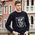 Pioneer camp blusas padrão de tigre dos homens novos chegada da alta qualidade roupas de marca famosa marca pullovers casuais camisola 677124