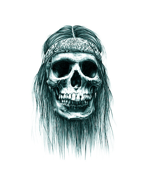 Long hair captain jack sparrow skull pattern long lasting for Captain jack sparrow tattoo