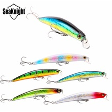 SeaKnight SK025 1PC 100mm 11g Minnow Fishing Lure Hard Bait 0-0.5M Floating Minnow Plastic Lure Freshwater Saltwater Tackle Tool