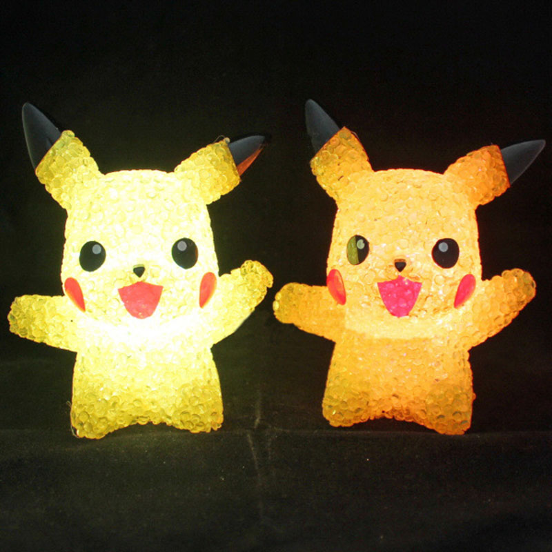 Pikachu Night Lights Color Changing LED Lights Children's Glowing Toys Bedroom Get Up Lights Birthday Gift Kid Room Decoration