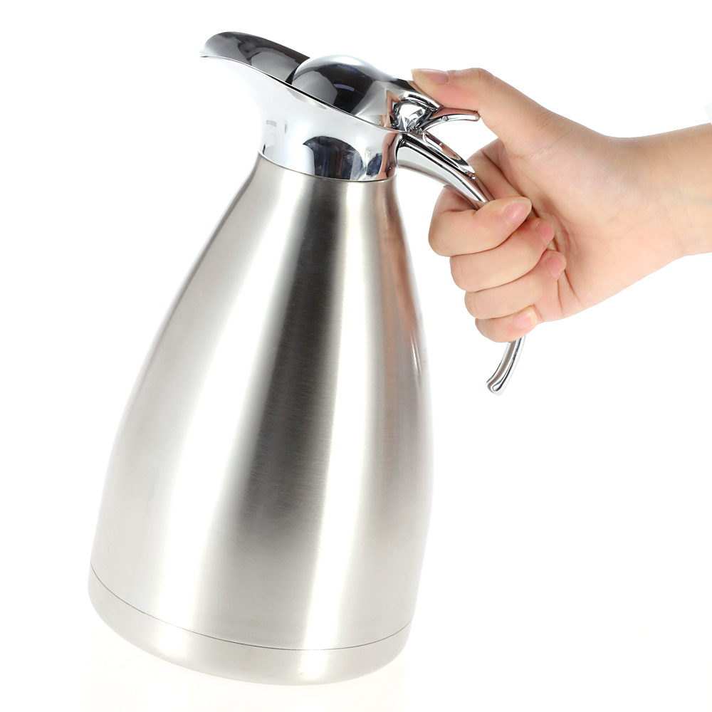 1 5l Stainless Steel Double Wall Thermal Carafe Vacuum Insulated Coffee Pot Water Pitcher Flasks And Drinkware In Thermoses