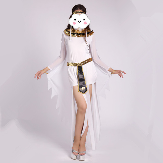 8eec8fe86ce US $24.69 9% OFF|Sexy Egyptian Cleopatra Costume Ladies Cleopatra Roman  Toga Robe Greek Goddess Fancy Dress Costume Outfits White-in Sexy Costumes  ...