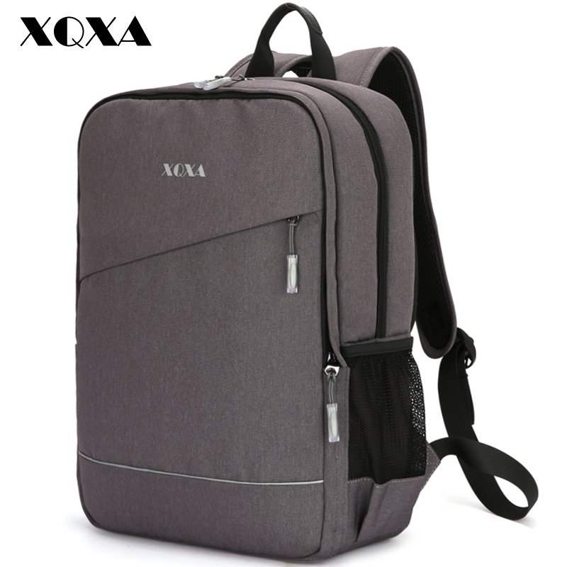 XQXA Removable Waterproof Backpack Men Casaul Daypack for Teenagers 15.6 inch Business Backpack Oxford Mochila Back Pack Grey canvas men s backpack bag teenagers laptop notebook mochila for men waterproof back pack school backpack bag casual daypack