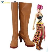 JoJos Bizarre Adventure Golden Wind Trish Una Cosplay Shoes Custom Made Boots