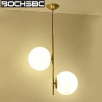 BOCHSBC Nordic Two Glass Balls Pendant Light for Dinning Room Living Room Bar Cafe Modern Decorative Glass Luster Hanging Lamp