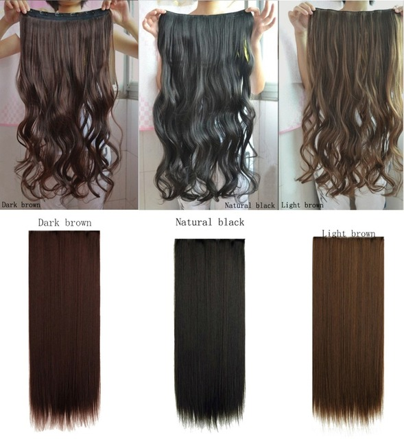 62 Cm Two Kinds Of Style Natural Blackdark Brownlight Brown Hair