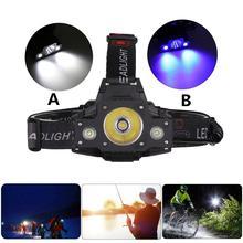 Dragonpad высокомощный светодиодный светильник на голову 4000-4500lm Регулируемый рыболовный флэш-светильник фонарь головной светильник