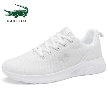 CARTELO women's shoes casual sports white shoes women  simple tie muffin thick bottom wild running breathable low to help couple