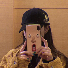 maosenguoji ins hot funny Surprised Weird face Fashion soft Mobile Phone Case