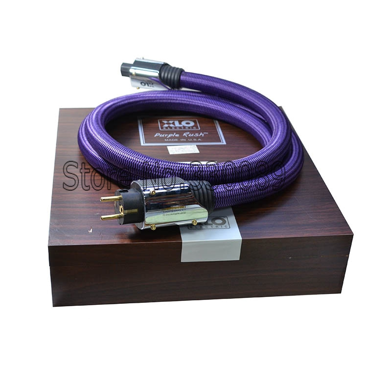 Free shipping 2 meter/pieces XLO Purple Rush HIFI EU AC Audiophile Power cable /Schuko Power Cable without box цена