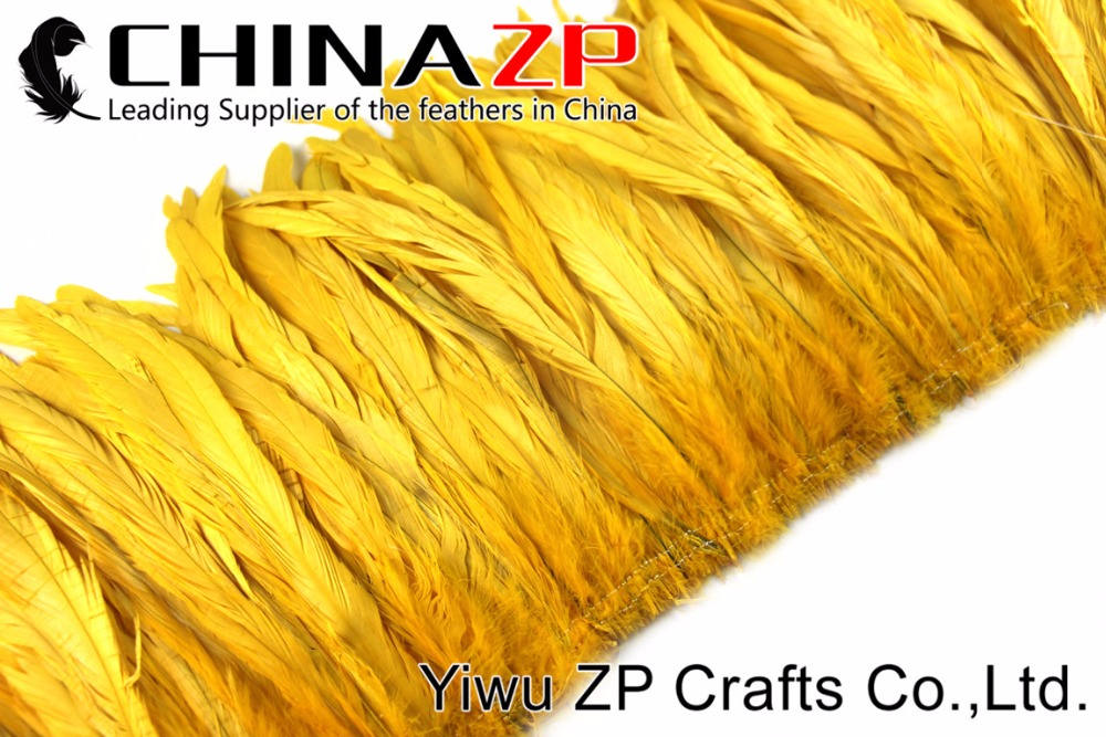 2Yellow Roster tail Feather strung (5)