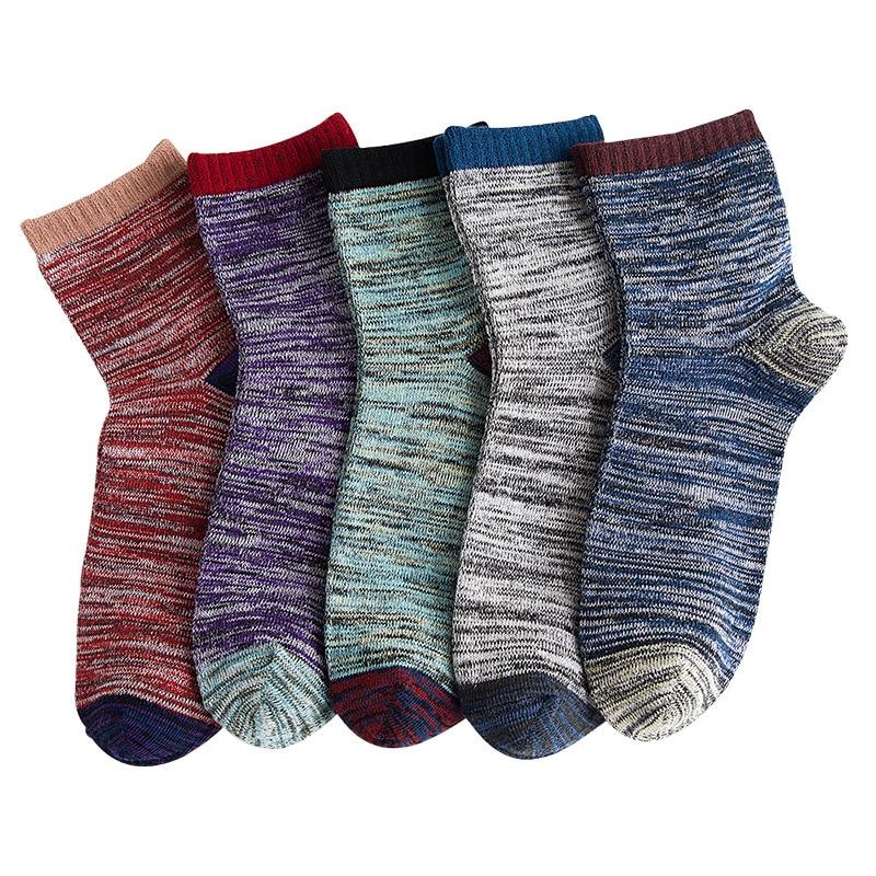 Helisopus 1 Pair Men's Socks National Styles Vintage Low Cut Casual Socks Male Boat Harajuku Socks Meias Men Gifts